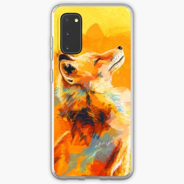 Glückseliges Licht - Fox-Illustration, Tierporträt, inspirierend Samsung Galaxy Flexible Hülle