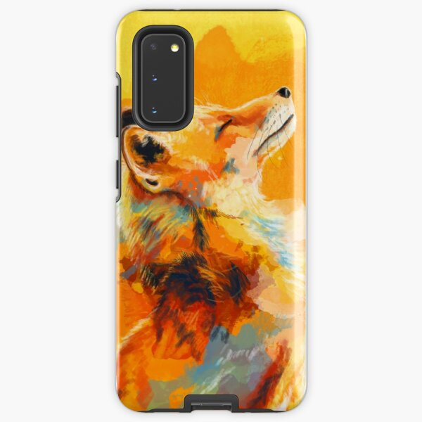 Blissful Light - Fox illustration, animal portrait, inspirational Samsung Galaxy Tough Case
