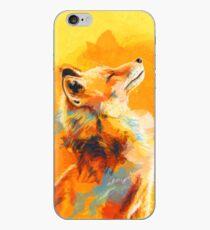 Blissful Light - Fox illustration, animal portrait, inspirational iPhone Case