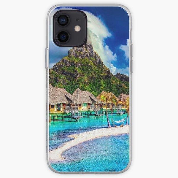 fwc 1314 beach bora- bora clouds iPhone Soft Case