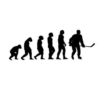 Ice Hockey Evolution Hockey Fan Player Gift by Rueb