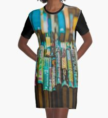 fwc 1345 abundance bookcase books Graphic T-Shirt Dress
