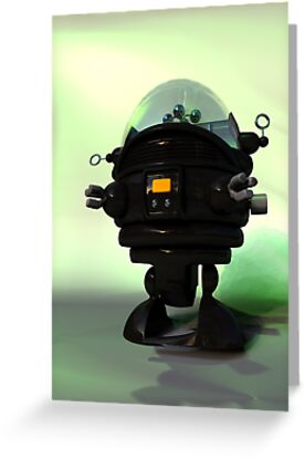 Cute Toy Planet Robot by mdkgraphics