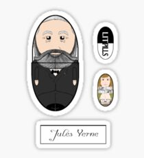 LitPills - Jules Verne (Sci-fi Classics Series) Sticker