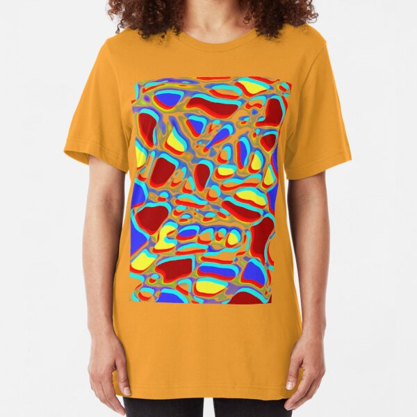 bright abstract a fun design for fun folk Slim Fit T-Shirt