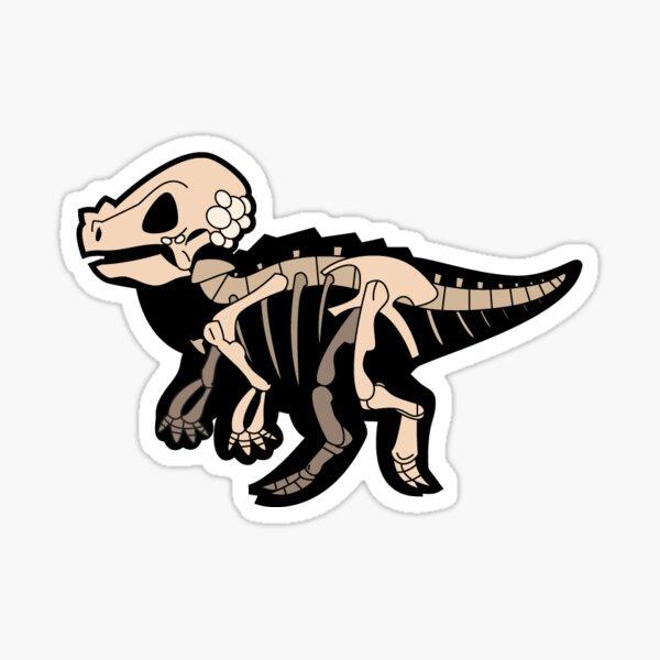 Pachycephalosaurus Skelly Sticker