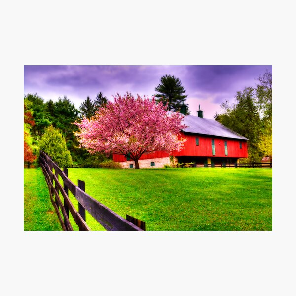 Spring in Clarks Valley-Pennsylvania Photographic Print