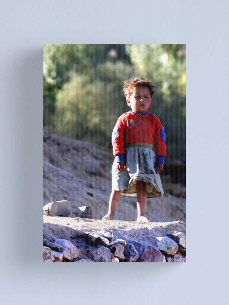 Alternate view of Girl (Afghanistan) Canvas Print