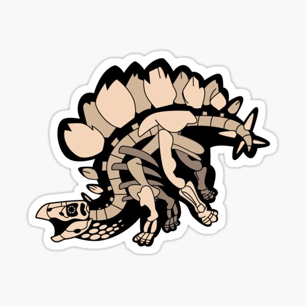 Stegosaurus Skelly Sticker