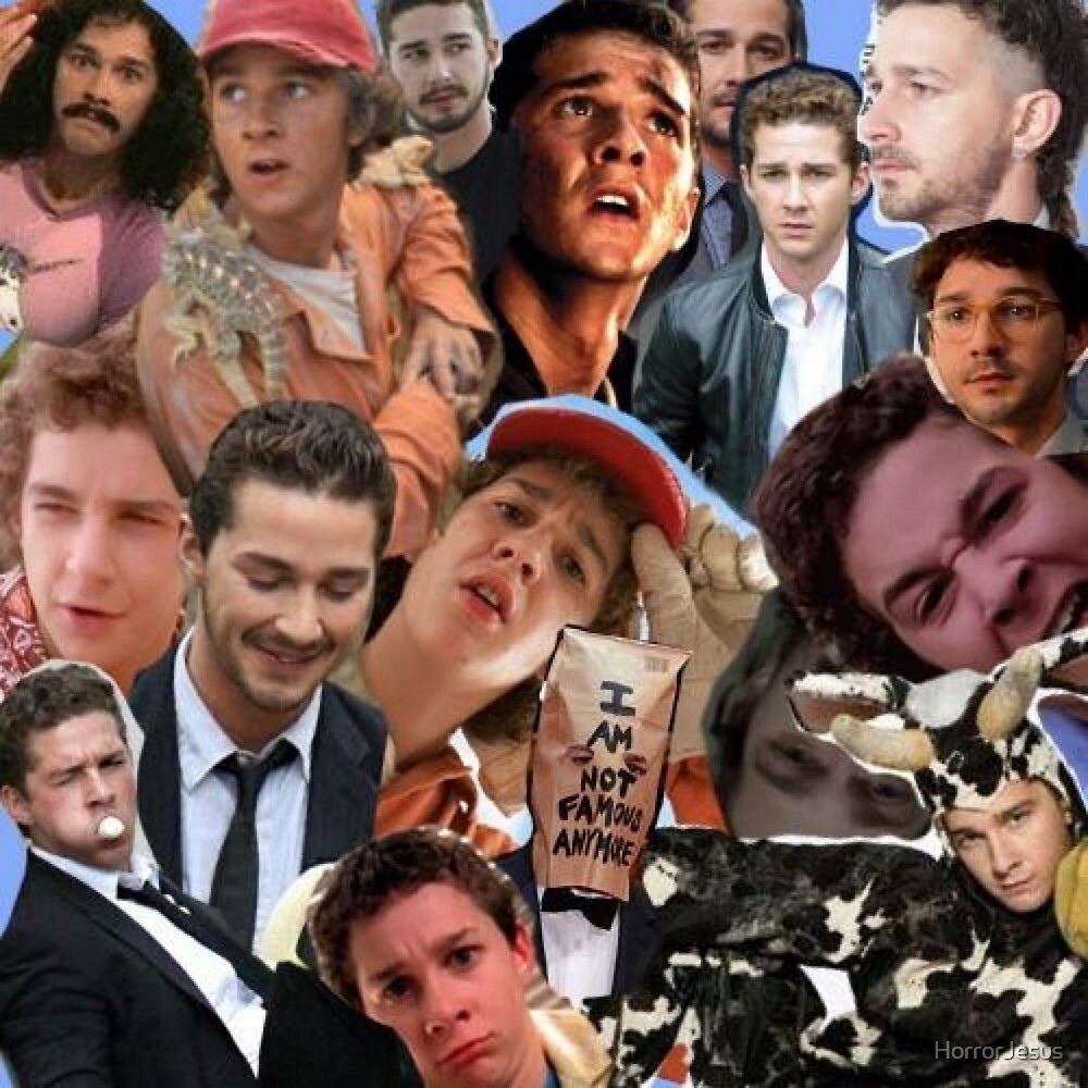 Shia lebouf collage  by HorrorJesus