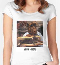 Camiseta entallada de cuello redondo Alf Meow