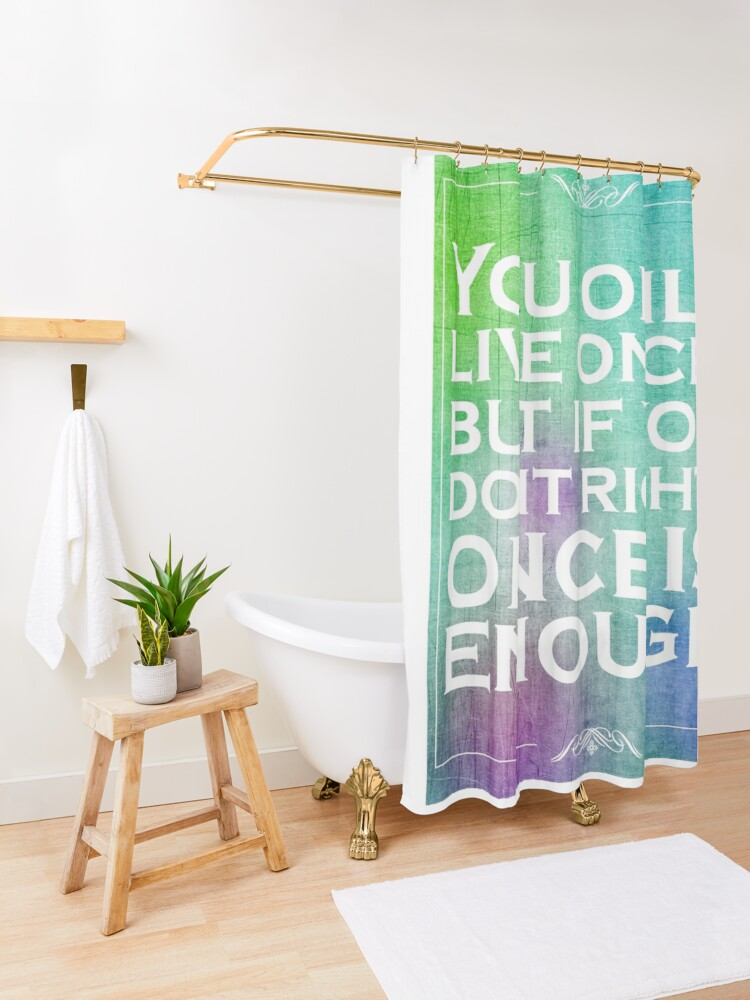 Alternate view of Mae West Inspirational Quote 2 Shower Curtain