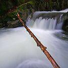 Middle Falls - Honey Hollow Gorge, Preston Brook by Stephen Beattie
