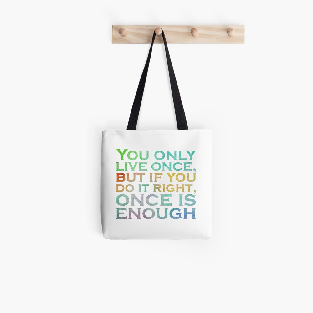 Mae West Inspirational Quote Tote Bag