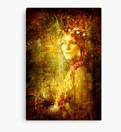Refined As Gold Canvas Print