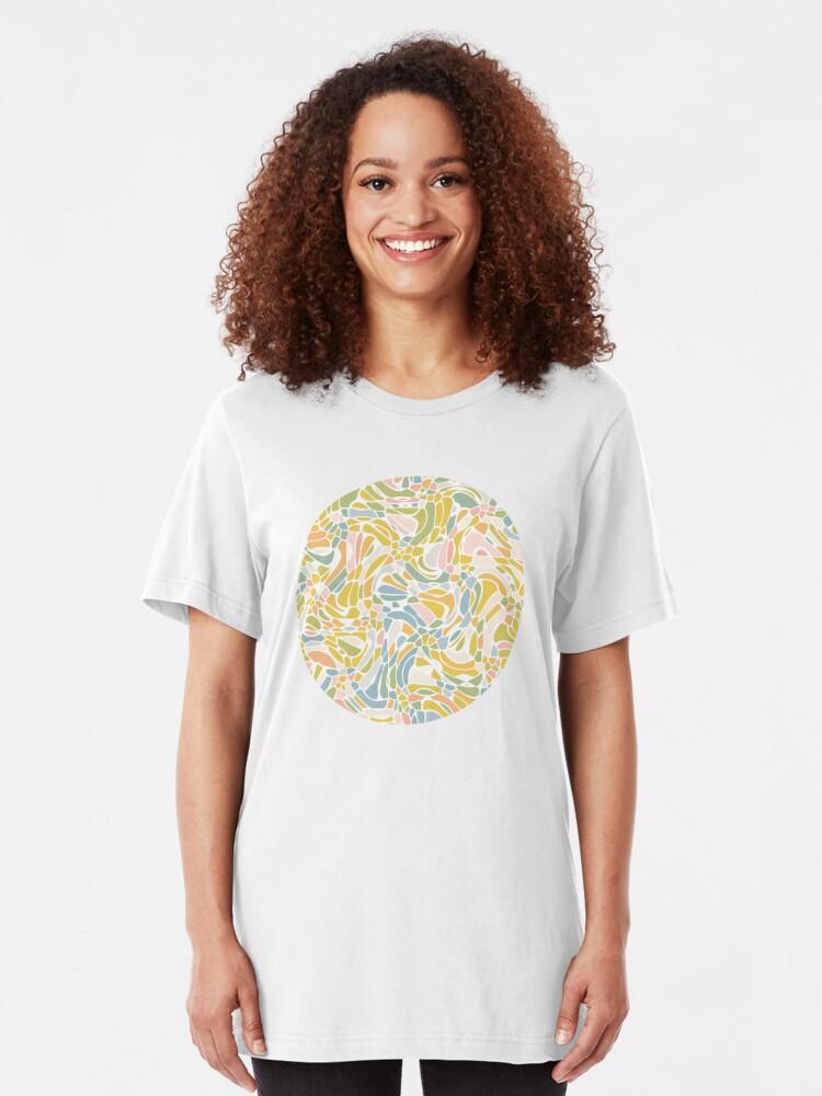 Alternate view of Pastel Pebbles Slim Fit T-Shirt