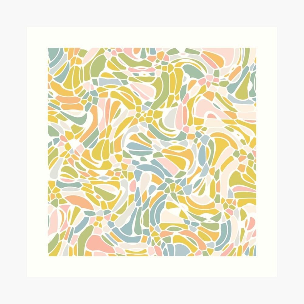 Pastel Pebbles Art Print