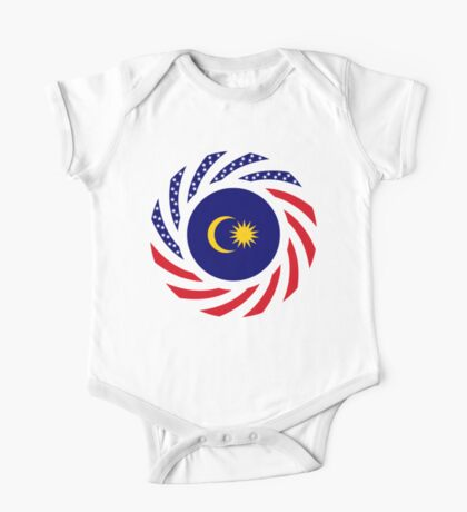 Malaysian American Multinational Patriot Flag Series Kids Clothes