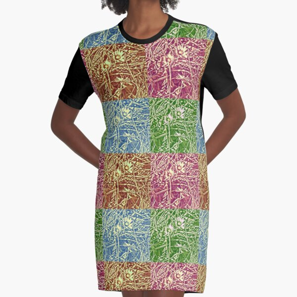 Daisy Chain - Pop Art Graphic T-Shirt Dress
