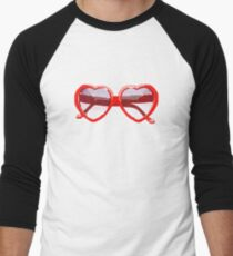 Heart-Shaped Sunglasses in Watercolor - Trendy/Summer/Hipster Style T-Shirt
