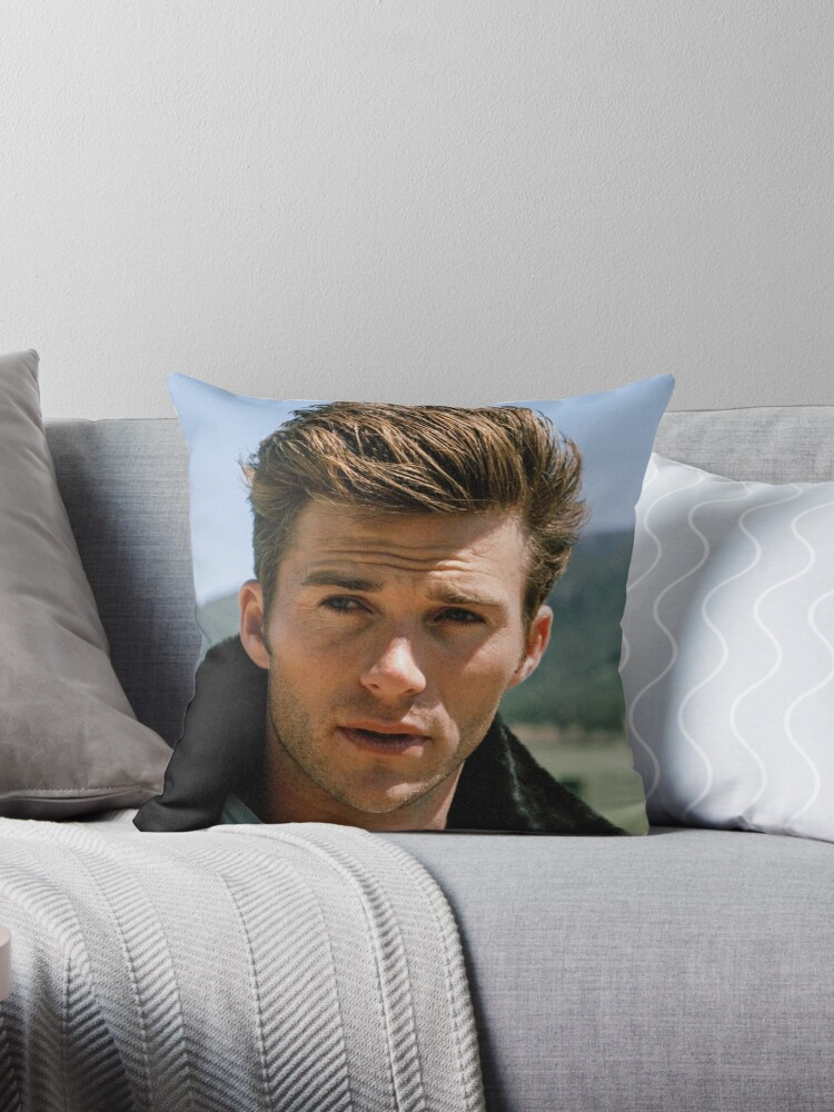 Scott Eastwood Throw Pillow By Andrewgoodman Redbubble