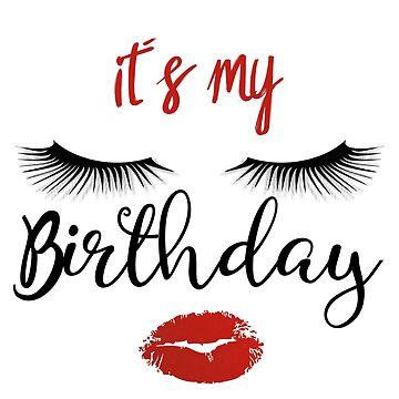 Birthday Birthday Kid Kissing Eyelashes Girl Wife Birthday Present Gift Idea by Rueb