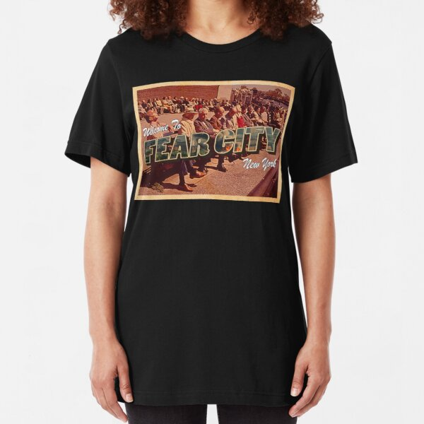 Welcome To Fear City, New York Slim Fit T-Shirt