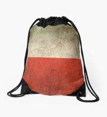 Old and Worn Distressed Vintage Flag of Poland Drawstring Bag