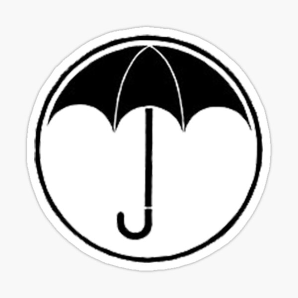 la academia paraguas Pegatina
