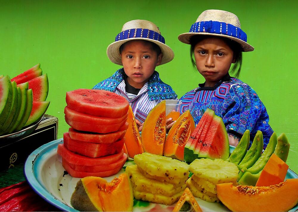 FRUIT STAND - GUATEMALA by Michael Sheridan