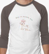 The Origin of Chocolate Chips Men's Baseball ¾ T-Shirt