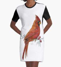 Goauche Cardinal Graphic T-Shirt Dress
