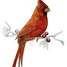 Goauche Cardinal by HAJRA MEEKS