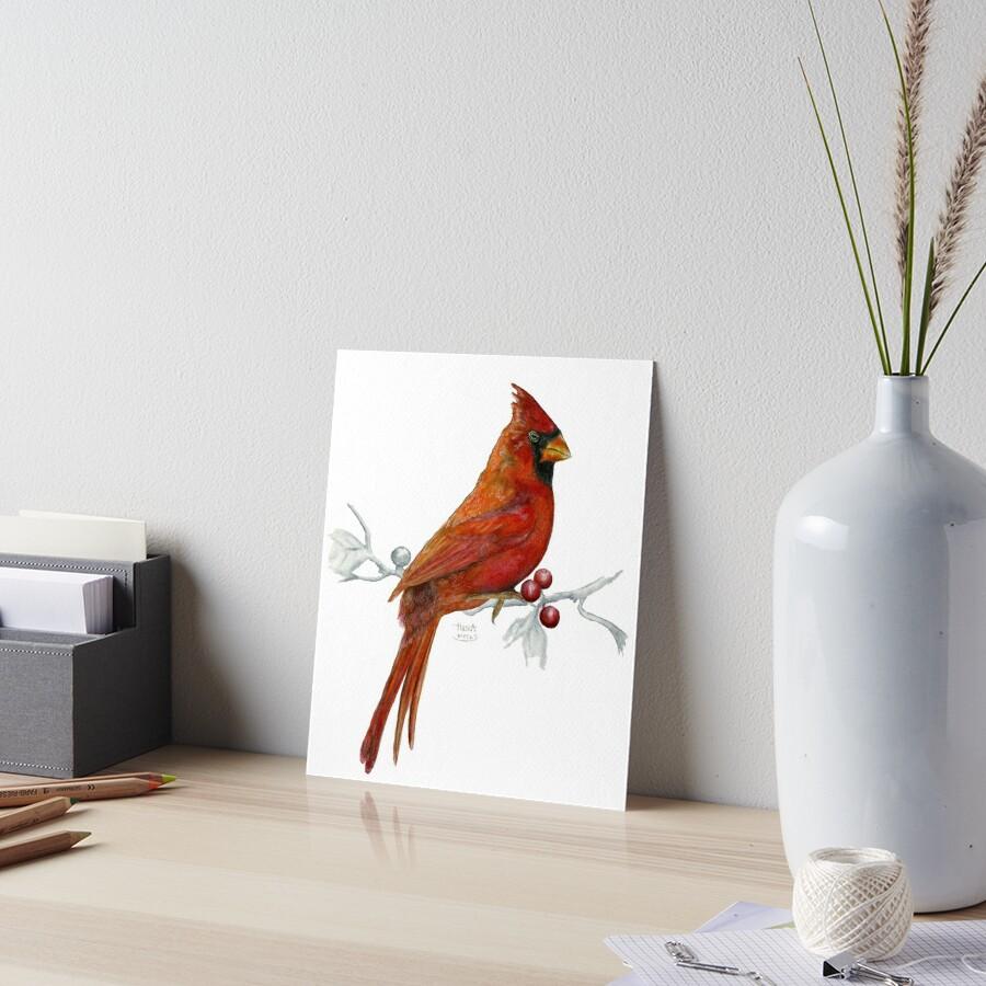 Goauche Cardinal Art Board Print