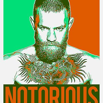 Conor McGregor Notorious Hope style poster by bigtimmystyle