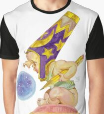 Watercolor Wizard Baby Graphic T-Shirt