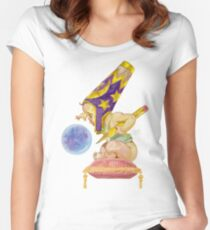Watercolor Wizard Baby Fitted Scoop T-Shirt