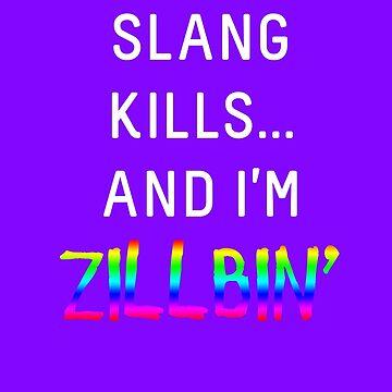 Slang Kills... (white/rainbow) by shirtsforteens