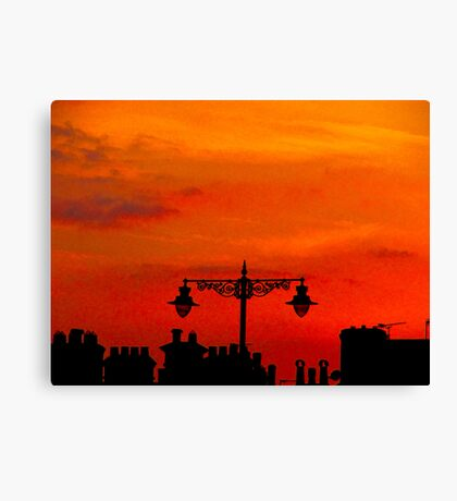 Volcanic Sunset Canvas Print