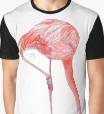 Watercolor Flamingo  Graphic T-Shirt
