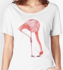 Watercolor Flamingo  Relaxed Fit T-Shirt