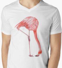 Watercolor Flamingo  V-Neck T-Shirt