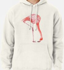 Watercolor Flamingo  Pullover Hoodie