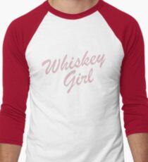 Whiskey Girl T-Shirt; Whiskey Lovers  Men's Baseball ¾ T-Shirt