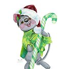 Christmas Mouse & Candy Cane by HAJRA MEEKS