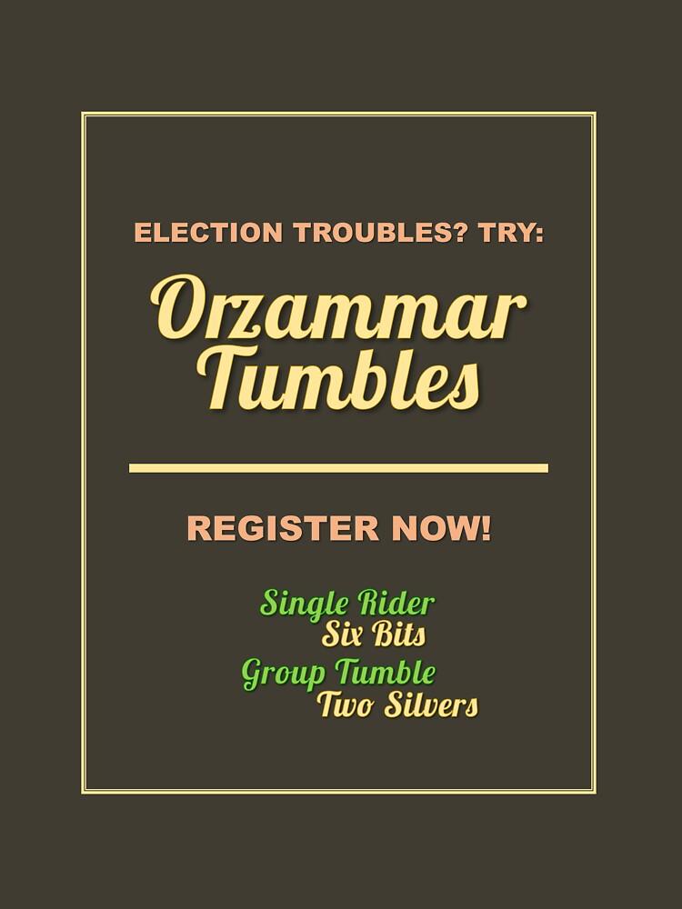 Orzammar Tumbles Flyer by EnchantmentCast