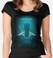 Axtelera Ray - Blue Women's Fitted Scoop T-Shirt