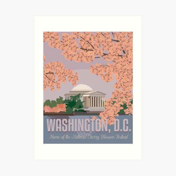 Washington, DC Travel Poster Art Print