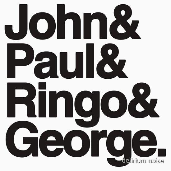 TShirtGifter presents: John&Paul&Ringo&George. T-Shirt
