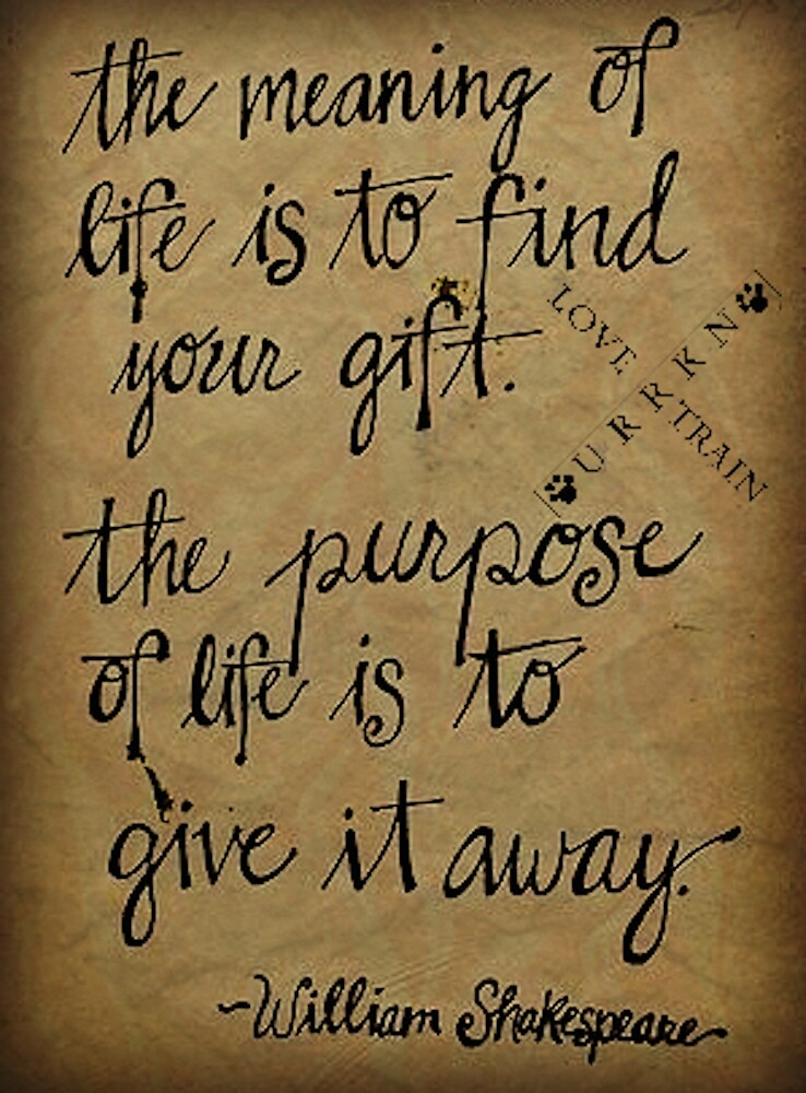 My Gift is love My purpose is URRKN by URRKN